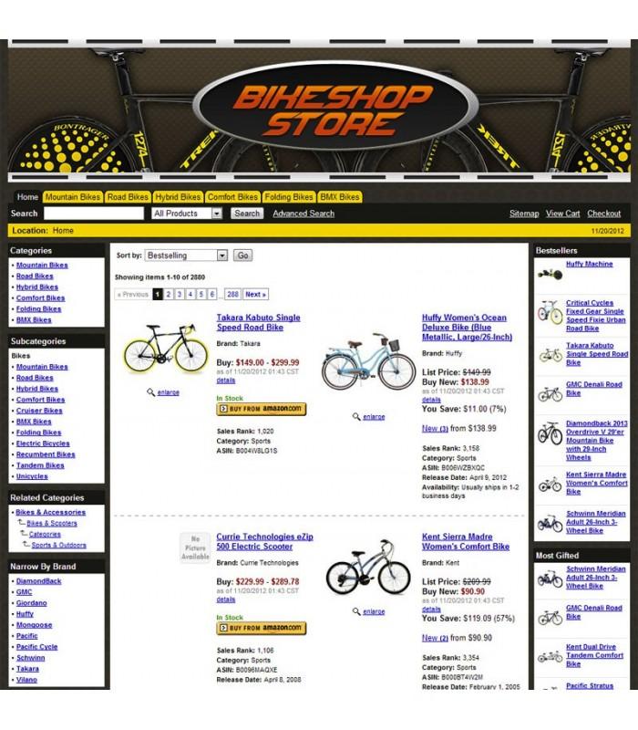 Amazon Bike Affiliate Store