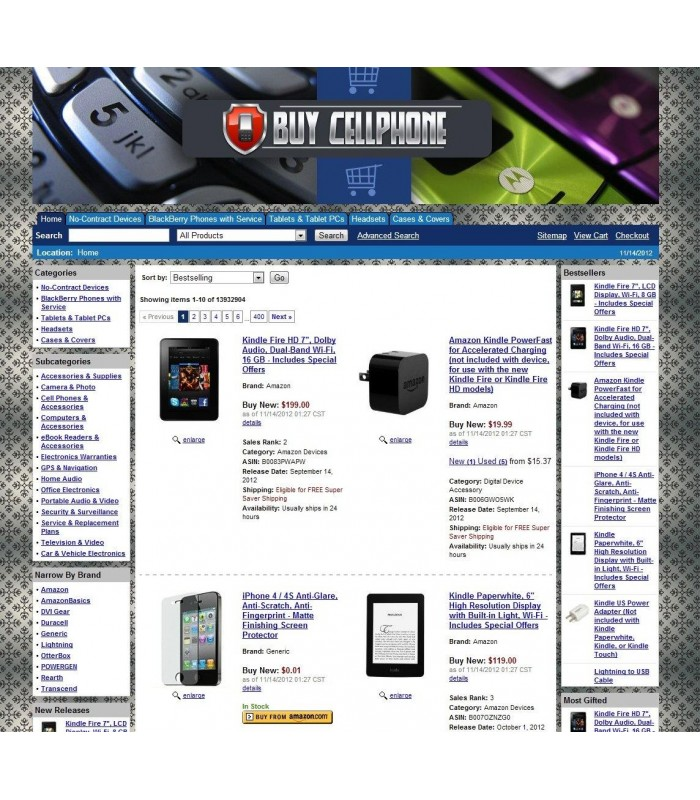 Amazon Cellphone Affiliate Store
