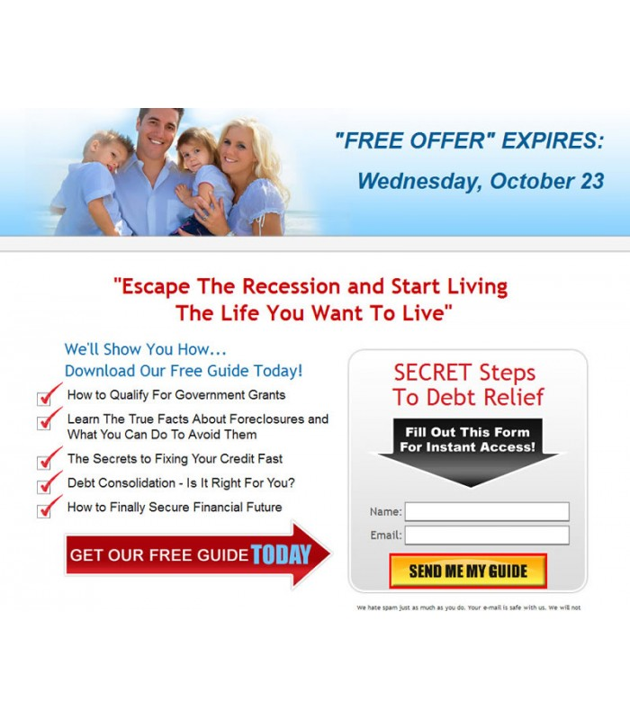 Debt Relief Squeeze Page