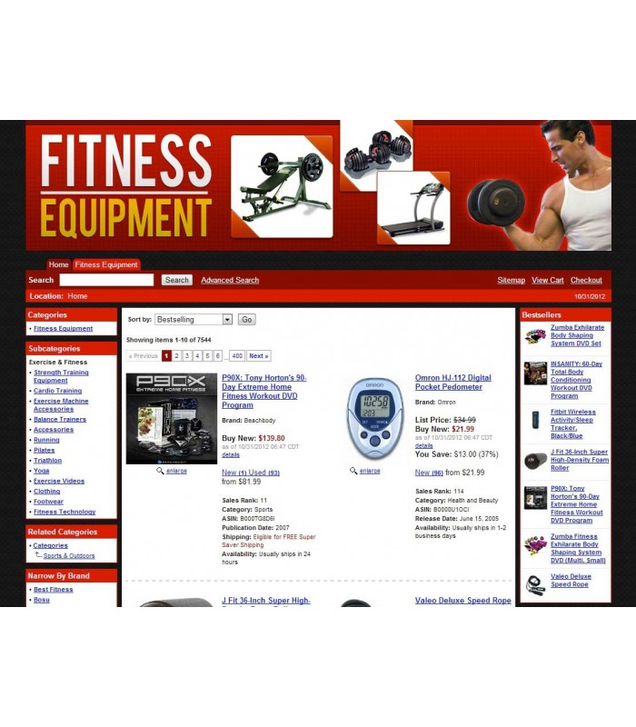 Amazon Fitness Affiliate Store