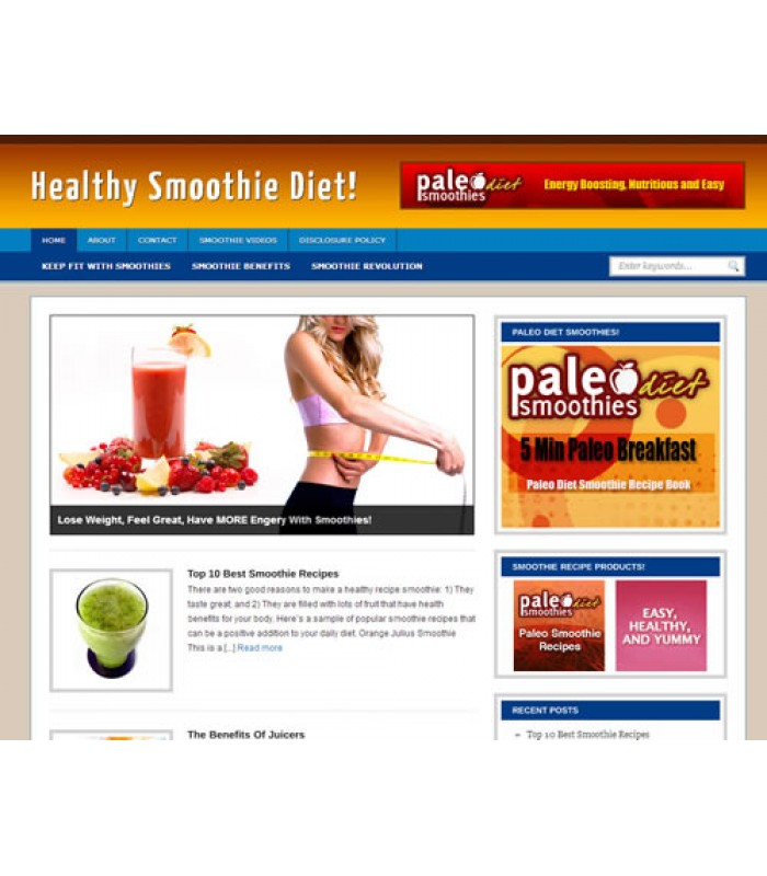 Smoothies Niche Blog