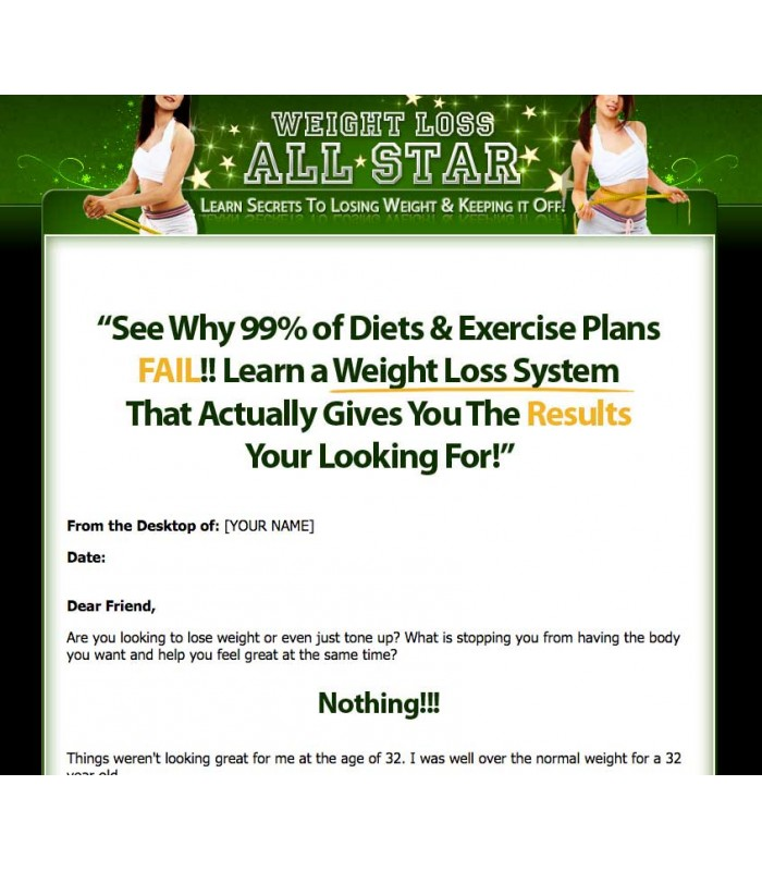 Weight Loss Ebook Website